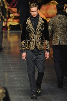 Dolce & Gabbana Men's Fashion: Tailoring & Embroidery - Fall Winter  - that whole collection's just incredible