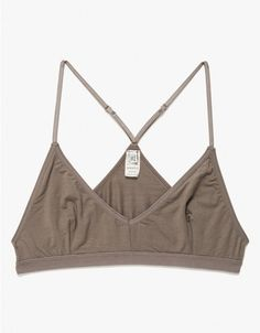 Ultrasoft and comfortable organic bamboo bralet from Baserange. Features darted front structure, thin adjustable straps, tall back and elastic band. Fashion Books, Fashion Outfits, Womens Fashion, Next Gifts, Cute Bras, Kawaii Fashion, Comfortable Outfits, Fashion 2020, Pretty Outfits