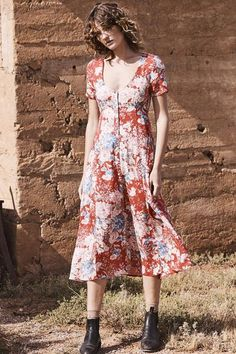053352d77761 Alice day Dress-Francis Floral-Red. Auguste ...