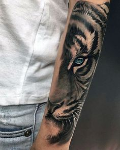 40 Tiger Eyes Tattoo Designs For Men - Realistic Animal Ink Ideas - Outer Forearm Creative Tiger Eyes Tattoos For Men - Tigeraugen Tattoo, Body Art Tattoos, New Tattoos, Hand Tattoos, Tattoos For Guys, Tatto For Men, Animal Tattoos For Men, Tattoo Animal, Sketch Tattoo