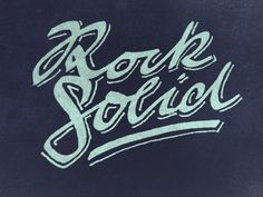 Rock Solid logo type by Andy Jörder