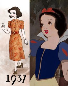 Swedish artist Beatrice Loren has drawn Disney princesses depicted in the fashion style of the year in which their movies first hit our scre...