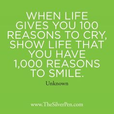 1000 reasons to smile