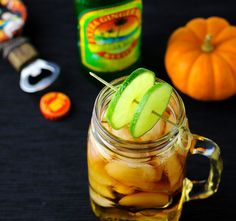 Mason Jar Dark -n- Stormy Cocktail, perfect for Halloween or any party!   http://Tastefulventure.com