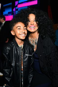 Best Pictures From the 2017 American Music Awards | POPSUGAR Celebrity | Pictured: Miles Brown and Diana Ross  Image Source:Getty / Emma McIntyre/AMA2017