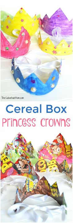 Cereal Box Princess Crown Kids Craft