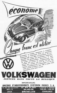 old poster -ad for volkswagen cars