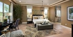 This inviting master suite is your own private retreat at Florenza. #DreamHomes #Phoenix