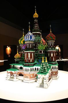saint basil's cathedral in lego form