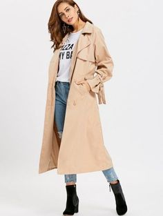 SHARE & Get it FREE | Skirted Double-breasted Soft Trench Coat - Khaki SFor Fashion Lovers only:80,000+ Items • New Arrivals Daily Join Zaful: Get YOUR $50 NOW!