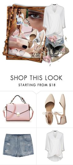 """""""I Would Walk 500 Miles"""" by skailees ❤ liked on Polyvore featuring Gap, Karen Millen, bag, POSTit and fancyflats"""
