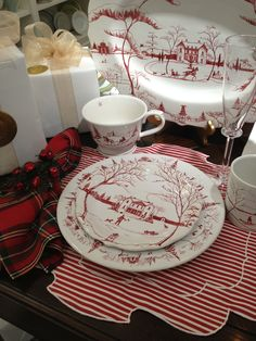 Juliska Country Estate and Ottocento Placemats. A fabulous holiday table. Available at Quintessentials.