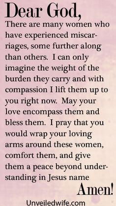 Prayer Of The Day – Healing After Miscarriages by @Kristen Mc Elwee Brown Wife