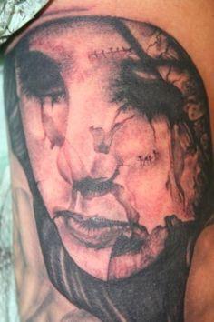 Evil Tattoos, Tattoo Ideas, Tattoo Designs, Fantasy Tattoos, Back Tattoo, Ink, Portrait, Headshot Photography, Back Tattoos