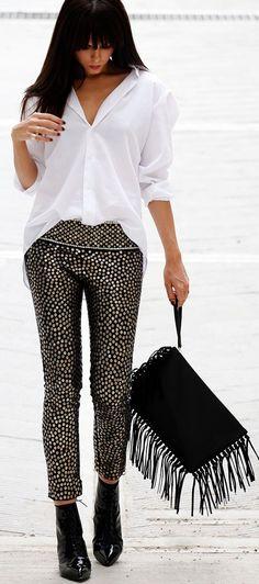 Isabel Marant Black Stud and Sequin Embellished
