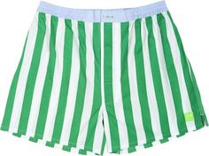 Sant and Abel // Green and White Stripe Men's Boxer Shorts #boxers -