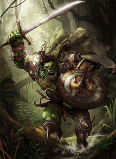 A berserker on the warpath is carried by the spirits of his ancestors more than his own considerable muscle.