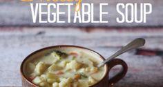 Crock Pot Cheesy Vegetable Soup