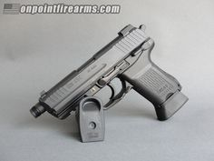 """Heckler & Koch Hk 45C V3 Tactical In 45Acp With 4.57"""" Cold Hammer Forged, Threaded Barrel With O-Ring, Two (2) 10 Round Magazines.  Variant 3 (V3) Version Is What Navy Specwar Requested: A Frame Mounted Decocker/No Safety.  Trigger Guard Is Ideal For Operation While Wearing Gloves.  Ambidextrous Magazine And Slide Controls.  Fixed Suppressor Height Tritium Night Sights.  This Is The One To Have!"""