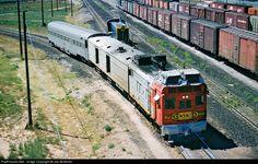 RailPictures.Net Photo: ATSF M.190 Atchison, Topeka & Santa Fe (ATSF) EMC Motor Car at Clovis, New Mexico by Joe McMillan