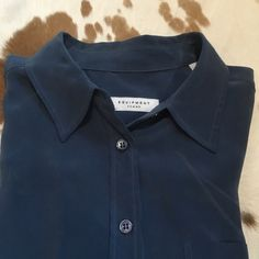 Equipment button down! A beautiful blue color! Love this top! Equipment Tops