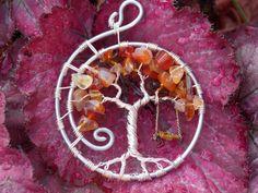 Swing Tree of Life Pendant by TwistedWiresTorquay on Etsy, £29.99