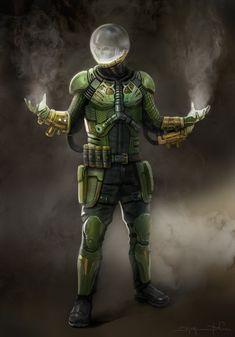 Mysterio concept art Hq Marvel, Marvel Dc Comics, Marvel Heroes, Marvel Cinematic, Marvel Villains, Marvel Characters, Comic Books Art, Comic Art, Plantas Versus Zombies