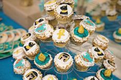 cupcakes de Egipto: decoracion de fiestas temática