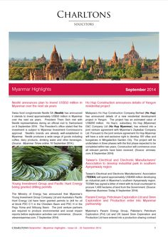 Myanmar Highlights - 22 September 2014 - Nestlé announces plan to invest US$50 million in Myanmar over the next six years