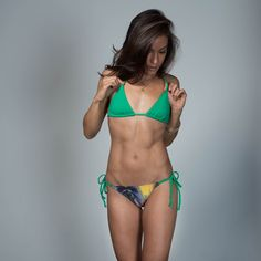 Rio Swim Tartaruga Green Triangle Bikini Top