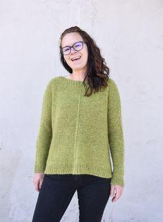 Handmade knit sweater in Rowan Yarns in The Weekender pattern by Andrea Mowry!! Rowan Yarn, Weekender, Yarns, Silk, Knitting, Lace, Unique, Pattern, Sweaters
