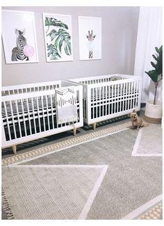 Twin Nursery Gender Neutral, Nursery Twins, Nursery Room, Nursery Ideas, Nursery Pictures, Chic Nursery, Nursery Curtains, Elephant Nursery, Project Nursery