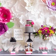 Dessert Tablescape by August In Bloom
