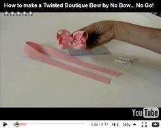 Thank you so much No Bow... No Go! for your great instructions. No Bow...No Go's Video Check out the bow instructions and templates at NoB...