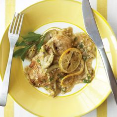 This recipe from Pamela Kaufman of Ferndale, Michigan gives this chicken a European flair with lemons, parsley, and olives.
