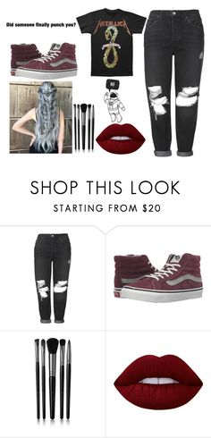 """""""Untitled #1031"""" by jonas-bros02 ❤ liked on Polyvore featuring Topshop, Vans, Illamasqua and Lime Crime"""