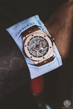 Hublot Ferrari Unico in rose gold, watch-cuff shirt and jacket by on the  wrist of my brother during our impromptu photoshoot in Knightsbridge last  year ef9c627534d4