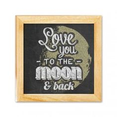 To The Moon And Back Chalkboard Art Canvas Print