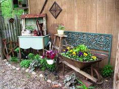 Julie Brown's collection dresses up a plain shed wall