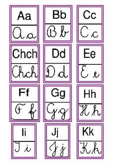 Abecedario (imprenta y cursivo)