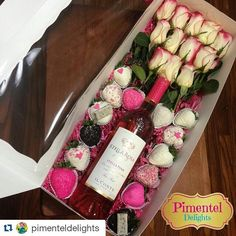 Valentine Boxes to hold a dozen roses, Chocolate Covered Strawberries, and a bottle of wine - from BRP Box Shop.