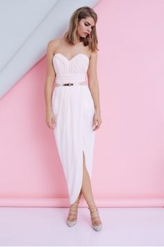 there is also this one,, however i think it was only in large sizes but that might just have been online?? it's got a slit for Claire! hahaha  SHEIKE Heartbreaker Maxi Dress $169.95