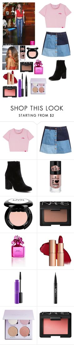 """""""Watching Gigi on Ellen"""" by joelene-garcia ❤ liked on Polyvore featuring H&M, Witchery, NARS Cosmetics, Marc Jacobs, MAC Cosmetics and Kat Von D"""
