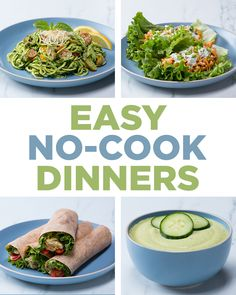 Easy No-Cook Dinners   Recipes