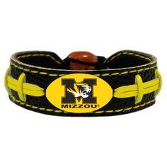 Missouri Tigers Team Color Football Bracelet, Women's