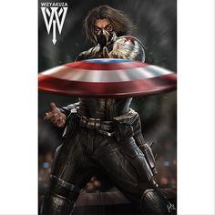 Like playing catch with a frisbee. Bucky Barnes the Winter Soldier #marvel #bucky #captainamerica #avengers #shield #ironman #thor #sebastianstan #falcon #blackwidow #spiderman #hulk #avengers #wizyakuza by devilzsmile.com #devilzsmile