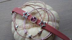 Kombiniere doch mal in #rosa #Lederarmband mit #Swarovski und #slidingknots sowie #Glitzerarmband