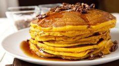 Pecan and Pumpkin Pie Pancakes.