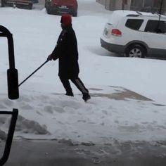 snow shovel gif