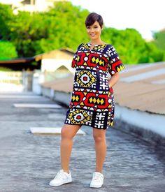 Simple Ankara Print Gown